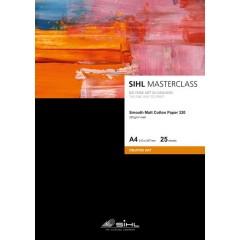 "SIHL MASTERCLASS Matt Cotton Smooth Paper, 320 gsm, 17"" / 432 mm x 12 m tekercs."